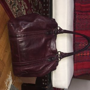 Frye Melissa tote in mulled wine red